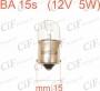 LAMPADINA 15s (12V 5W)