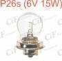 LAMPADINA P26s (6V 15W)
